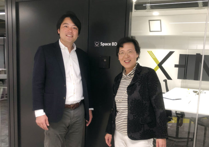 Space BD株式会社 永崎将利社長(左)と 弊所 長島美稚子所長(右)